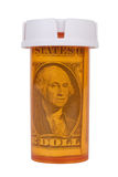Prescription bottle with Money Royalty Free Stock Photo