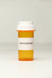 Prescription Bottle with Oxycodone Label Stock Images