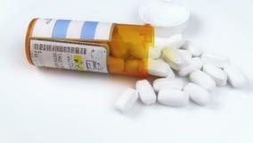 Prescription Bottle & Pills Stock Photo
