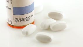 Prescription Bottle & Pills Royalty Free Stock Photos