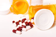 Prescription bottles. Isolated image of prescription bottles on white Stock Image