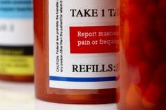Prescription bottles Stock Photography