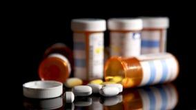 Prescription Bottles & Pills Stock Photography
