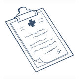 Prescription, case history card isolated on white. Stock Image