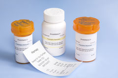 Prescription Cost Stock Image