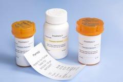 Prescription Cost Stock Image