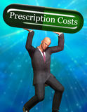 Prescription Costs stock illustration