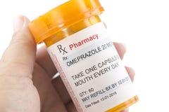 Prescription d'Omeprazole de télécopie image stock