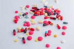 Prescription de drogue pour le médicament de traitement Photo stock