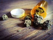 Prescription de marijuana images stock