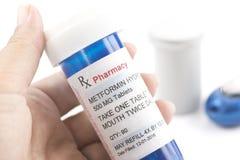 Prescription de Metformin de télécopie Image libre de droits