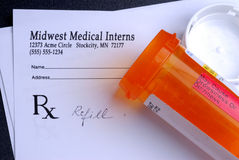 Prescription del doctor Fotografía de archivo