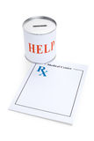 Prescription and Donation Box Royalty Free Stock Image