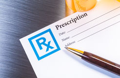 Prescription drug form Stock Images