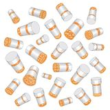 Prescription Drug Pill Bottles Stock Image