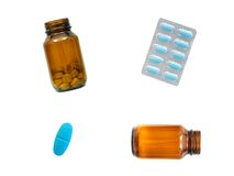 Prescription Drugs. Isolated on a white background Stock Photo