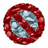 Prescription Drugs Ban Stock Photos