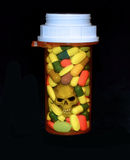 Prescription drugs and death Stock Image