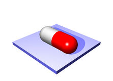 Prescription Drugs - Medical Icons Isolated Royalty Free Stock Photography