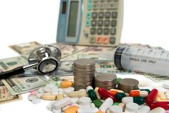 Health care costs-defocused concept Stock Image