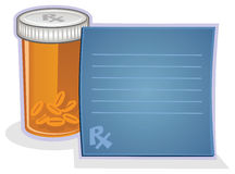 Prescription et pillules Image libre de droits