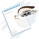 Prescription for glasses Royalty Free Stock Photos