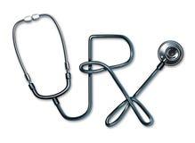 Prescription Health Care Stethoscope Royalty Free Stock Photography