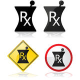 Prescription icon Stock Photo