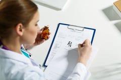 Prescription list Stock Images
