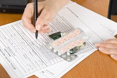 Prescription médicale Photo stock