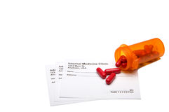 Prescription Medication. A medical prescription pad and prescribed pills Royalty Free Stock Photography