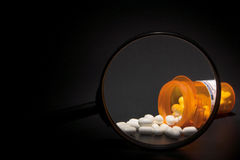 Prescription Medication Magnified Stock Photography