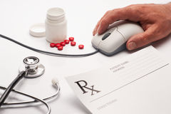 Free Prescription Medicine And Computer Mouse Royalty Free Stock Photo - 9269725