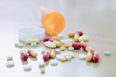 Prescription orange RX image stock