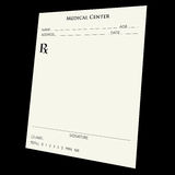 Prescription pad. A blank prescription pad over a black background.  Use your imagination :) Go wild Royalty Free Stock Photo