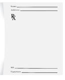 Prescription Pad Blank. An empty prescription pad stationery Royalty Free Stock Photos