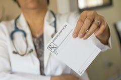 Prescription paper Stock Photography