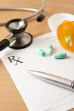 Prescription with Pills Stock Image