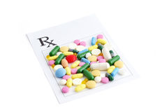 Prescription and pills Royalty Free Stock Images
