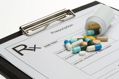 Prescription and pills Stock Photo