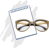 Prescription for reading glasses royalty free stock image