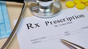Prescription to patient
