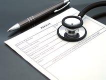 Prescrizione del medico Fotografie Stock Libere da Diritti
