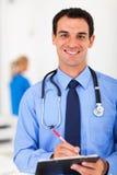 Prescrizione di scrittura di medico Fotografia Stock