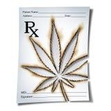 Prescrizione medica della marijuana illustrazione di stock