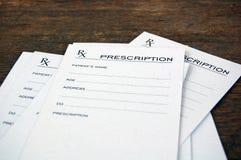 Prescrizioni in bianco Immagine Stock