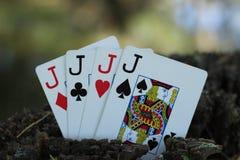 Prese di poker fotografia stock
