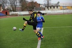 Preseason football tournament in Daugavpils Royalty Free Stock Photo