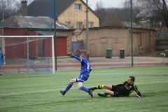 Preseason football tournament in Daugavpils Royalty Free Stock Photos