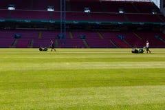 Preseason preparations at Danish national stadium Parken Stock Photo